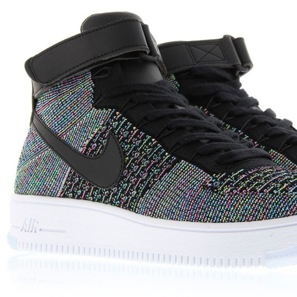 designer fashion f194a e78c8 NIKE AIR FORCE 1 ULTRA FLYKNIT MID MULTI-COLOR NWT